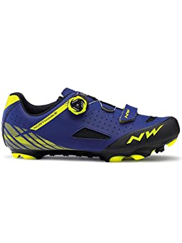 Northwave 2019 Origin Plus MTB - Zapatillas para Bicicleta, Color Azul y Amarillo: Amazon.es: Deportes y aire libre