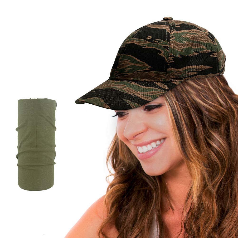 Tactical Constructed Operator Cap Military Camo Cap Trucker Hat for Hunting Fishing Camping Sport Activities - Tiger Striple Rainbow Finch