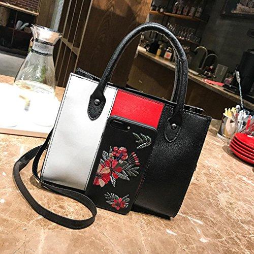Bag Shoulder Handbag Red Women Bags TOOPOOT Hit Patchwork Crossbody Bag Leather color PRvzwq68xz
