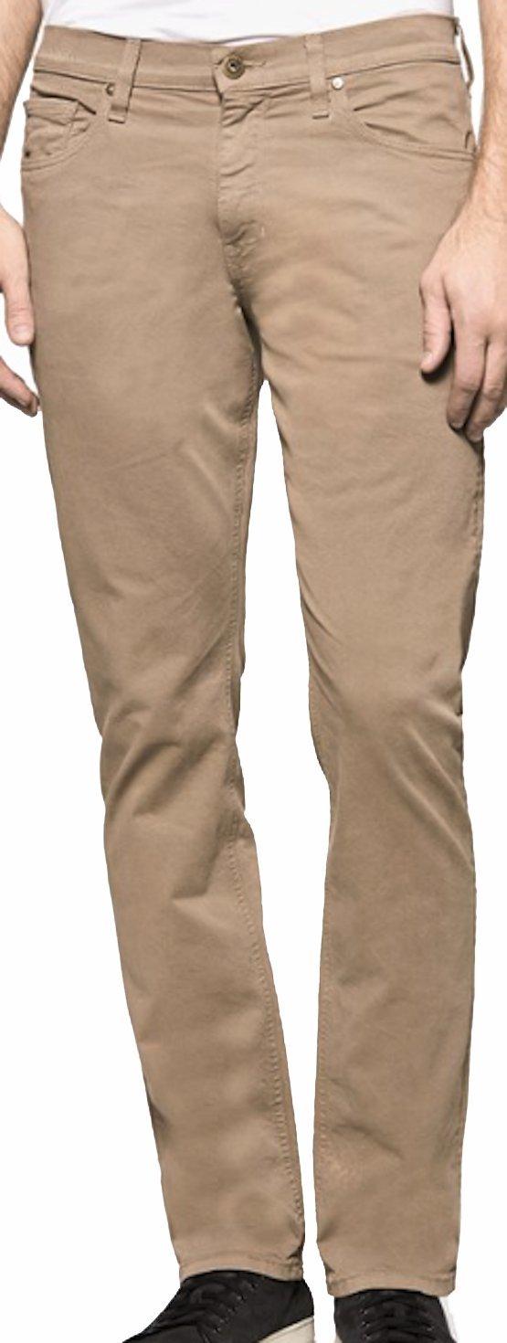 PAIGE Men's Pant Normandie Light Sable Twill Slim Straight Pants M657710 5143 (33)