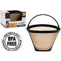 Altın renkli marka yeniden kullanılabilir # 4membran stil yedek Cuisinart kahve filtresi ile kalıcı Cuisinart kahve için filtre Cuisinart makine ve Brauer