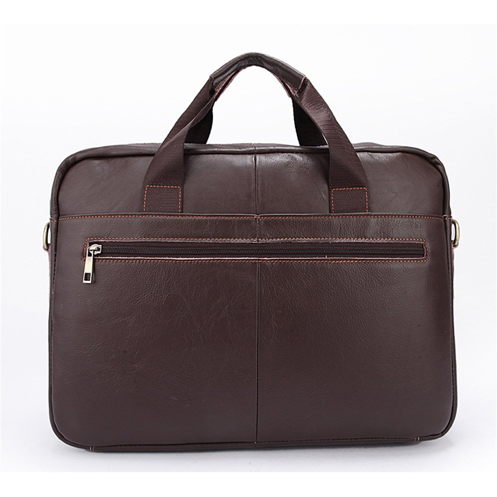 Brown 38 27 7cm Briefcase GLJJQMY Business Briefcase Korean Leather Mens Casual Mens Messenger Bag