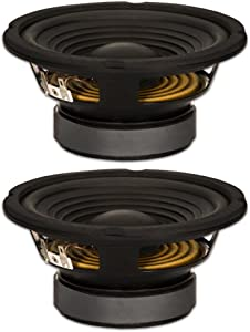 """Goldwood Sound, Inc. Stage Subwoofer, Black, OEM 6.5"""" Woofers 180 Watts each 8ohm Replacement Speakers (GW-206/8-2)"""