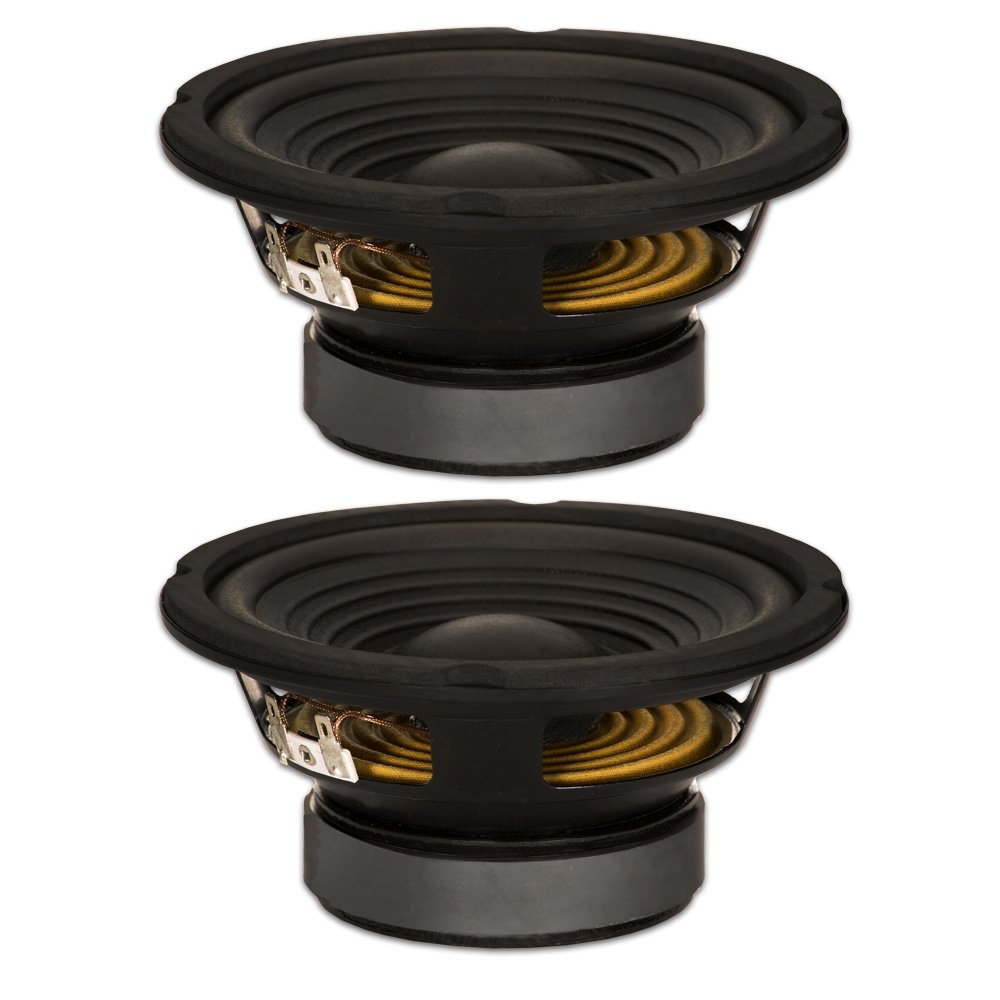 Goldwood Sound, Inc. Stage Subwoofer, Black, OEM 6.5'' Woofers 180 Watts each 8ohm Replacement Speakers (GW-206/8-2) by Goldwood Sound, Inc.