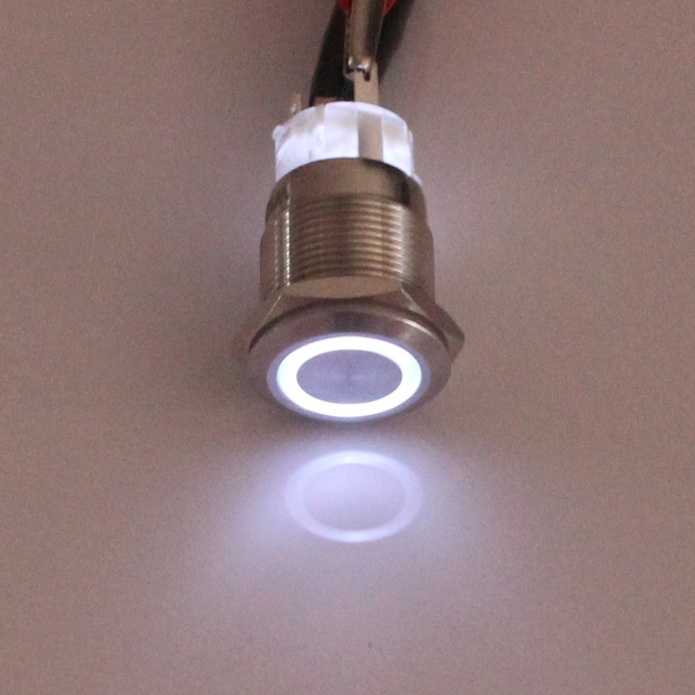 618QdfCf7UL._SL1000_ amazon com e support 19mm 12v 5a car white light angel eye metal  at edmiracle.co