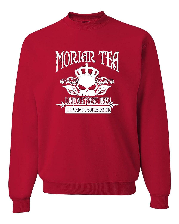 Adult Moriar Tea Funny Professor Moriarty Sweatshirt Crewneck MORIARTEA_AC_BK1_2XL