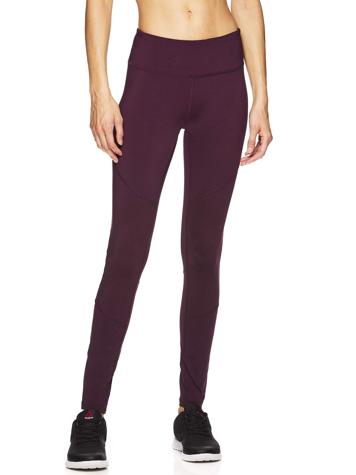 Reebok Women's Leggings Full Length Performance Compression Pants - Athletic Workout Leggings for Women for Gym & Sports - Vision Legging Potent Purple, X-Small by Reebok