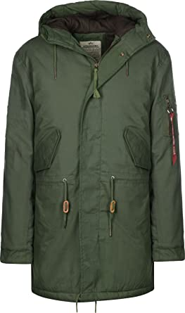 Alpha Industries Hooded Fishtail Parka  Amazon.de  Bekleidung 1d01a952c8