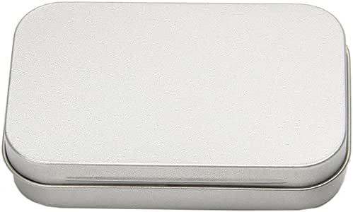 zrshygs Cajas de Regalo para joyería Metal Estaño Flip Plata Caja de Almacenamiento pequeña Caja Organizador para Dinero Monedas de Caramelo Llaves: Amazon.es: Hogar
