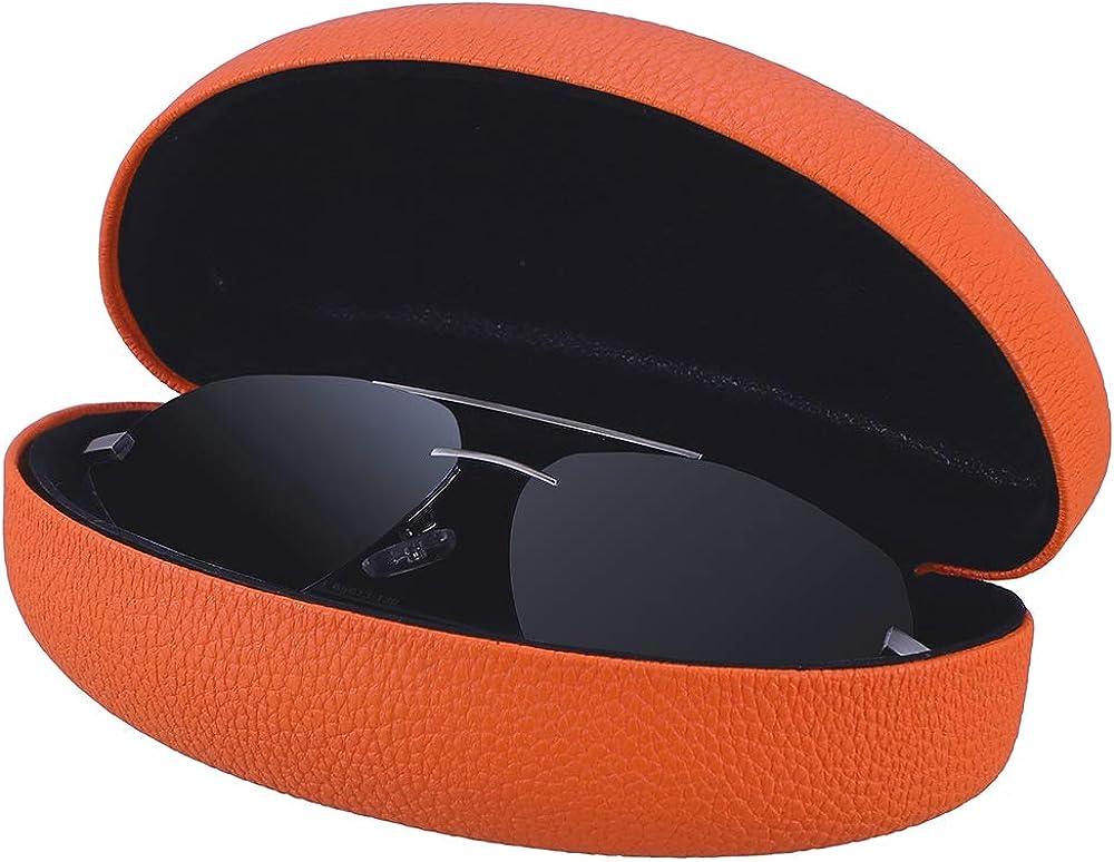 Antner Brillenetui extra gro/ß und Mikrofasertuch Set Schutzh/üllen f/ür Brillen und Sonnenbrillen