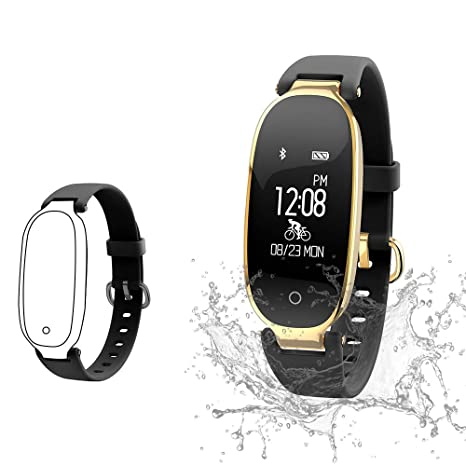 842d3b44 TOP-MAX Fitness Tracker Waterproof Watch for Women Activity Pedometer  Tracker with Calorie Step Counter,Sleep Monitor,Heart Rate Monitor,Blood ...