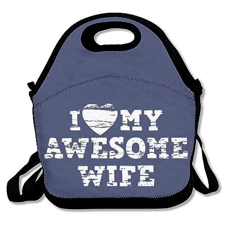 I Love My Awesome Wife - Bolsa de almuerzo para niños, diseño con ...