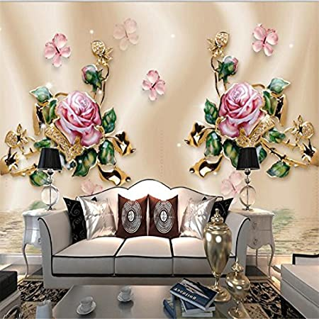 Lqwx Modern Personality Wallpaper Living Room Bedroom Stereo Gold