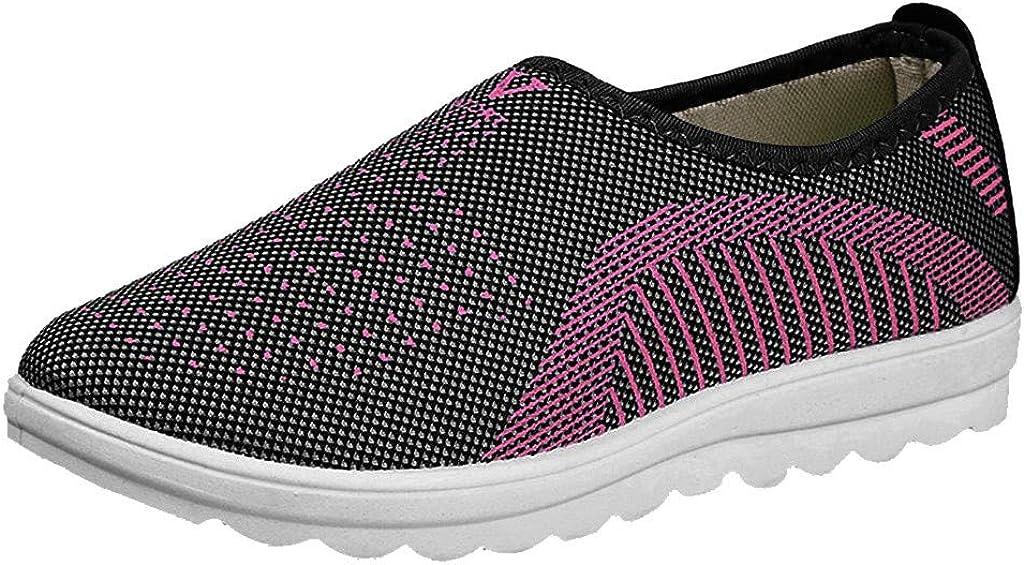 Zapatos Ligeros de Malla Transpirable para Caminar al Aire Libre para Mujeres Zapatillas Trail Running Mujer Cómodos Calzado Plana Casual Mocasines Trekking Senderismo Yvelands