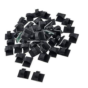 SODIAL (R) 50 Stueck Schwarz Kunststoff-Draht-Halter 10mm ...