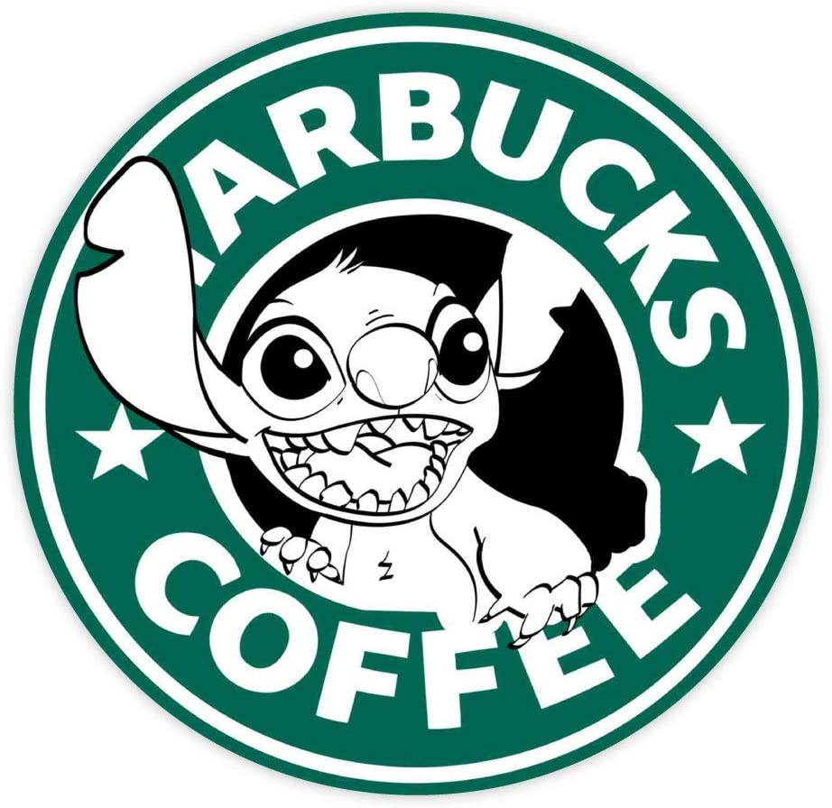 "Coffee Stitch sticker decal 4"" x 4"""