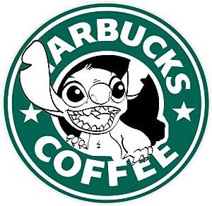 """Coffee Stitch sticker decal 4"""" x 4"""""""