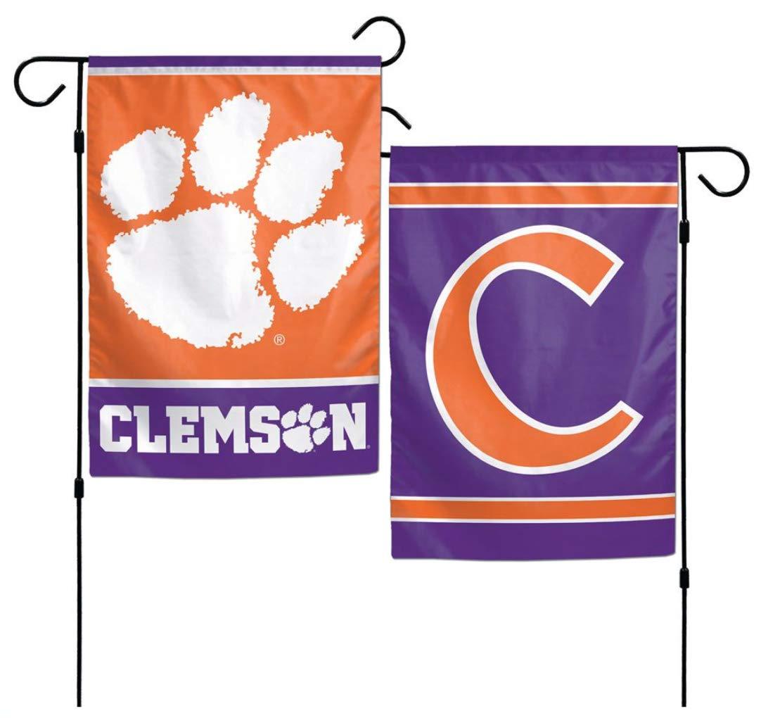 NCAA Clemson University Tigers 12x18 Inch 2-Sided Outdoor Garden Flag Banner