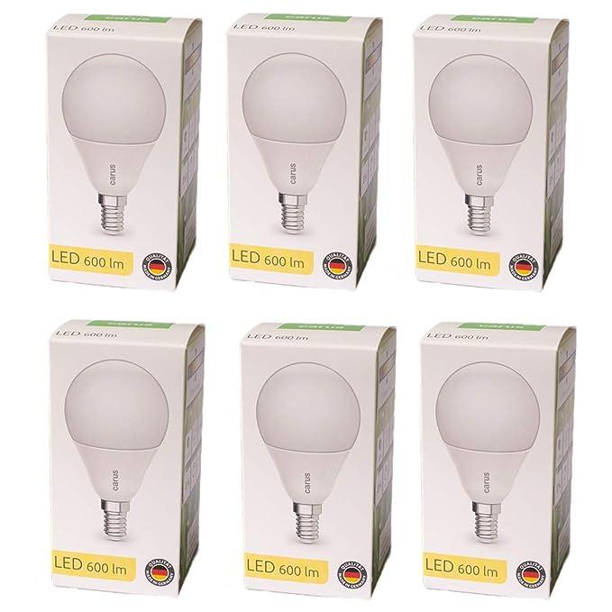 CARUS LED-LAMPE E14 MATT 8,3W=48W 600lm warmweiß 2700K dimmbar 90 Ra Germany