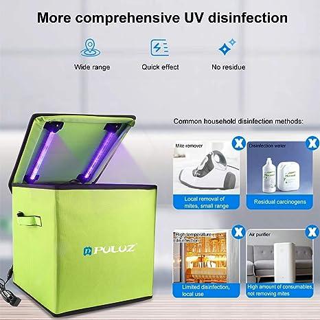 PULUZ UV Sterilizer Box 20cm Disinfection Tent Box Smartphone Sterilizer Portable UV Light Disinfection Underwear Sterilization Cleaning Box Household Disinfection Box