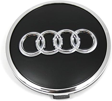 Audi 8w0601170b Radzierkappe 1 Stück Nabenkappe Radnabenkappe Nabendeckel Felgendeckel Alufelgen Schwarz Matt Auto
