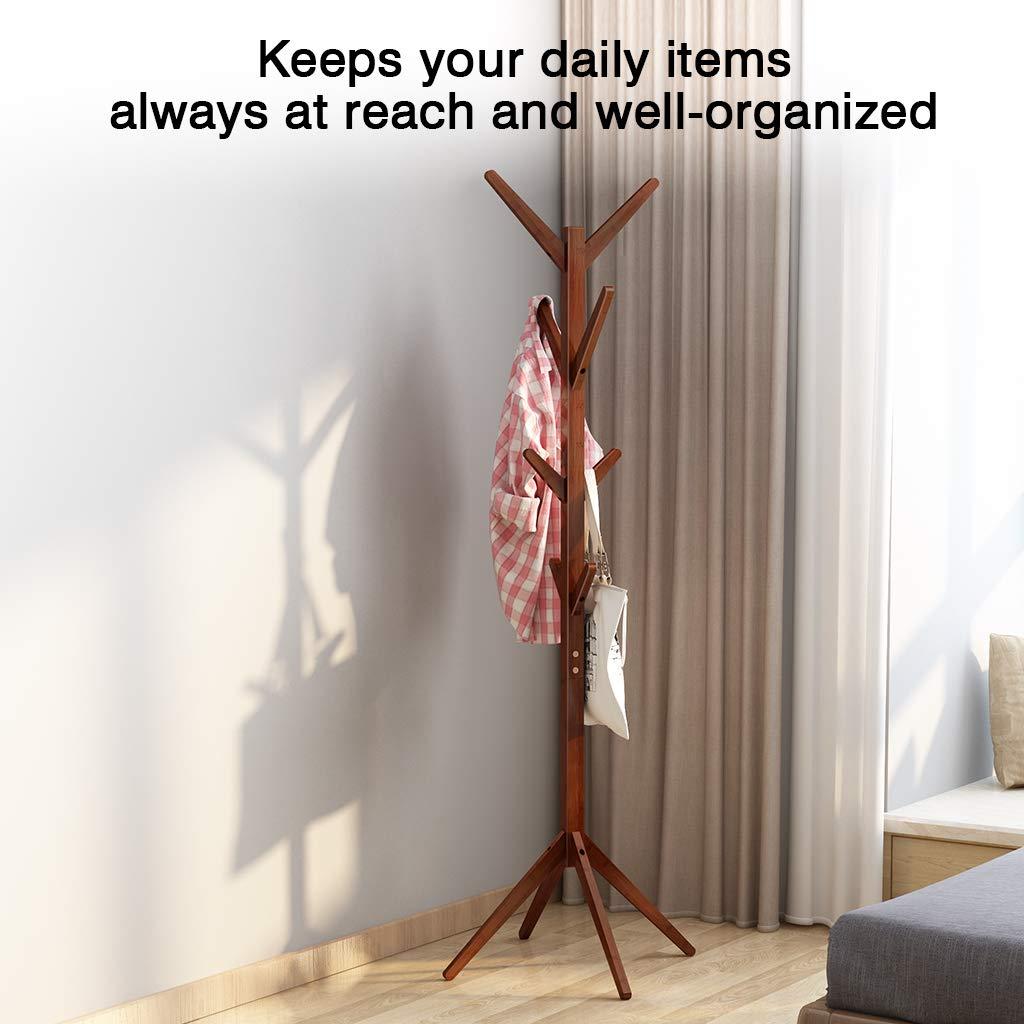 Amazon.com: Perchero de pie de bambú con forma de árbol de ...