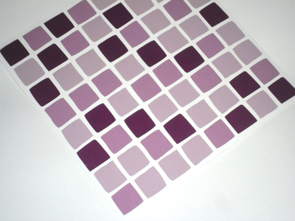 Pack Of Lilac Purple Mosaic Tile Transfers Stickers Quickly