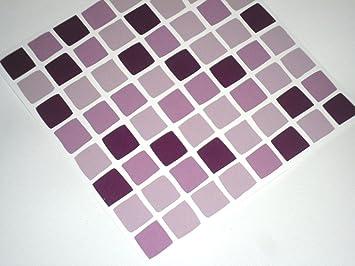 tile makeover confezione da 10 adesivi a mosaico per piastrelle da bagno colore