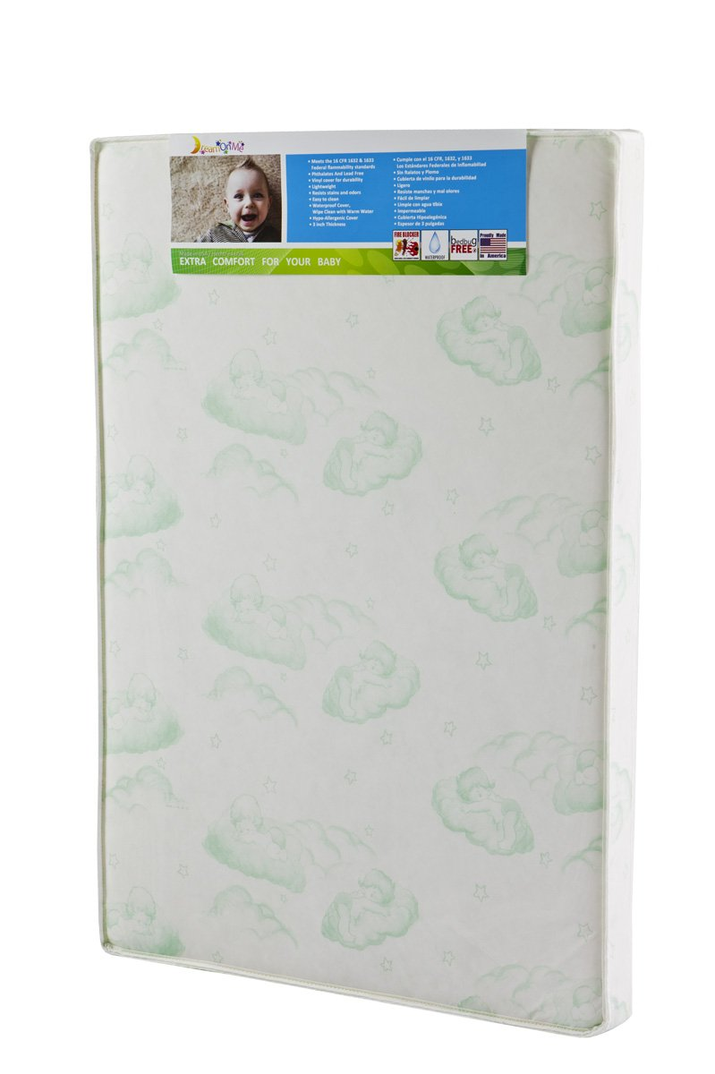 Dream On Me 3-Inch Foam Playard Mattress, White 25-GR
