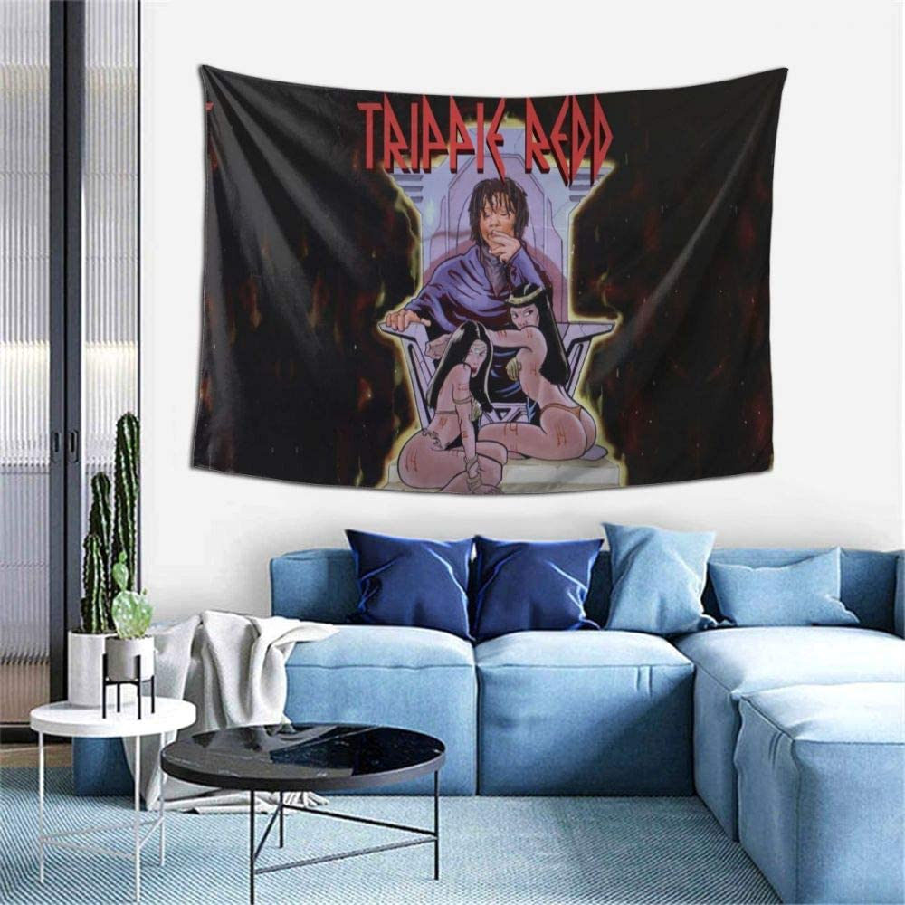 Nettley Trippie-Redd Rapper Hip Hop Wall Hanging Tapestry Home Decor 3D Print Tapestry Ready to Hang 60x40 Inch