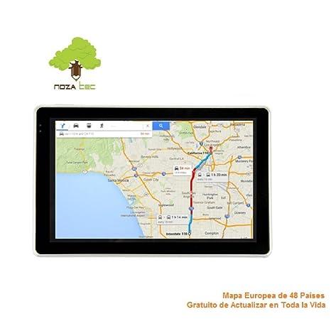 """NozaTec Navegador GPS para Coche 4.3"""" con Bluetooth Pantalla Táctil SpeedCam IGO8 Mapa Europea de"""