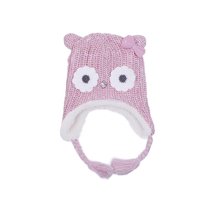 Amazon.com: LoveKids Girls and Boys Sherpa Lined Fleece Hat Earflap ...