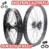 KKE HONDA MX CNC Wheel 21/19 CRF450R 13-17 CRF250R 14-17 Black Hub