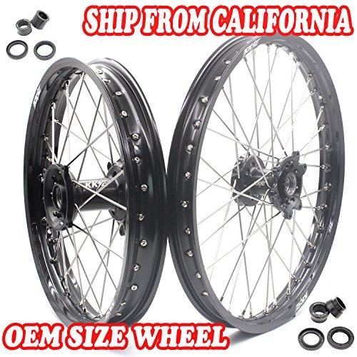 KKE HONDA MX CNC Wheel 21/19 CRF450R 02-12 CRF250R 04-13 Black Hub by KKE (Image #9)