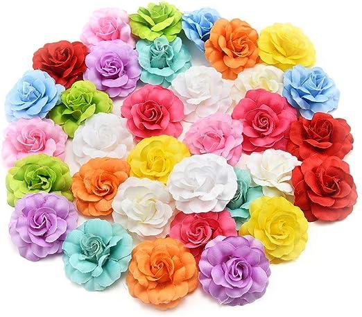 10Pcs Artificial Flower Heads Bulk DIY Craft Floral Graland Wedding Party Decor