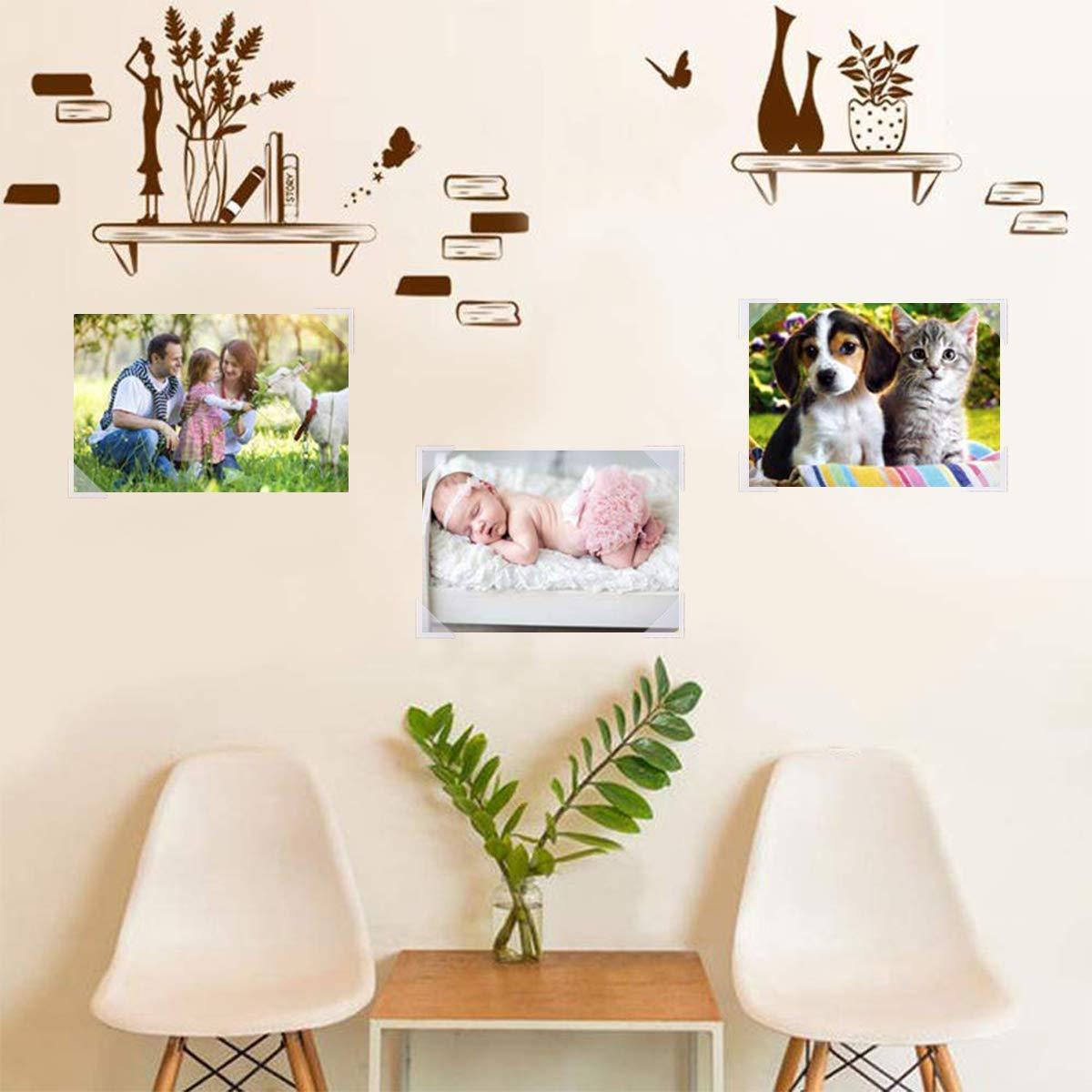 10 hojas de pegatinas para bordes de fotos Pegatinas autoadhesivas para esquinas de fotos transparentes