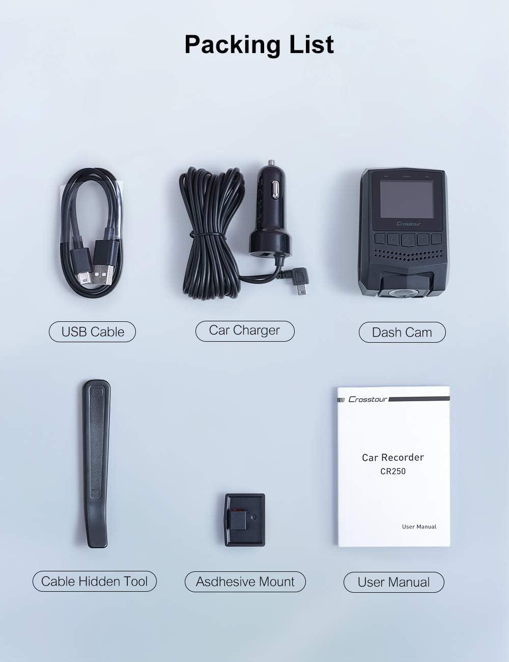 sumicorp.com Crosstour Dashcam 1080P FHD Mini Dashcam Recorder mit ...