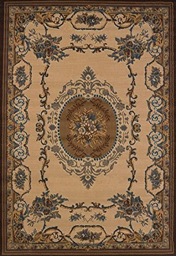 United Weavers of America Traditional Lexington Area Rug in Brown 10 ft. 6 in. L x 7 ft. 10 in. W