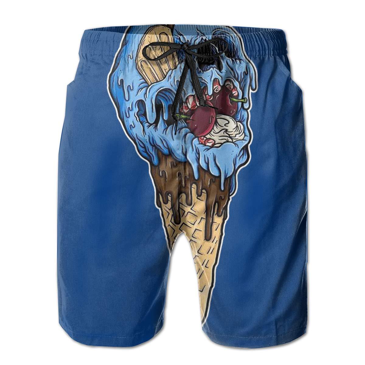 Hateone Mens Swimming Trunks Print Beach Shorts /& Pocket Teen Boy Mesh Lining