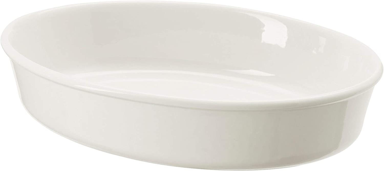 IKEA 202.893.16 Vardagen Oven Dish, Oval, Off-White