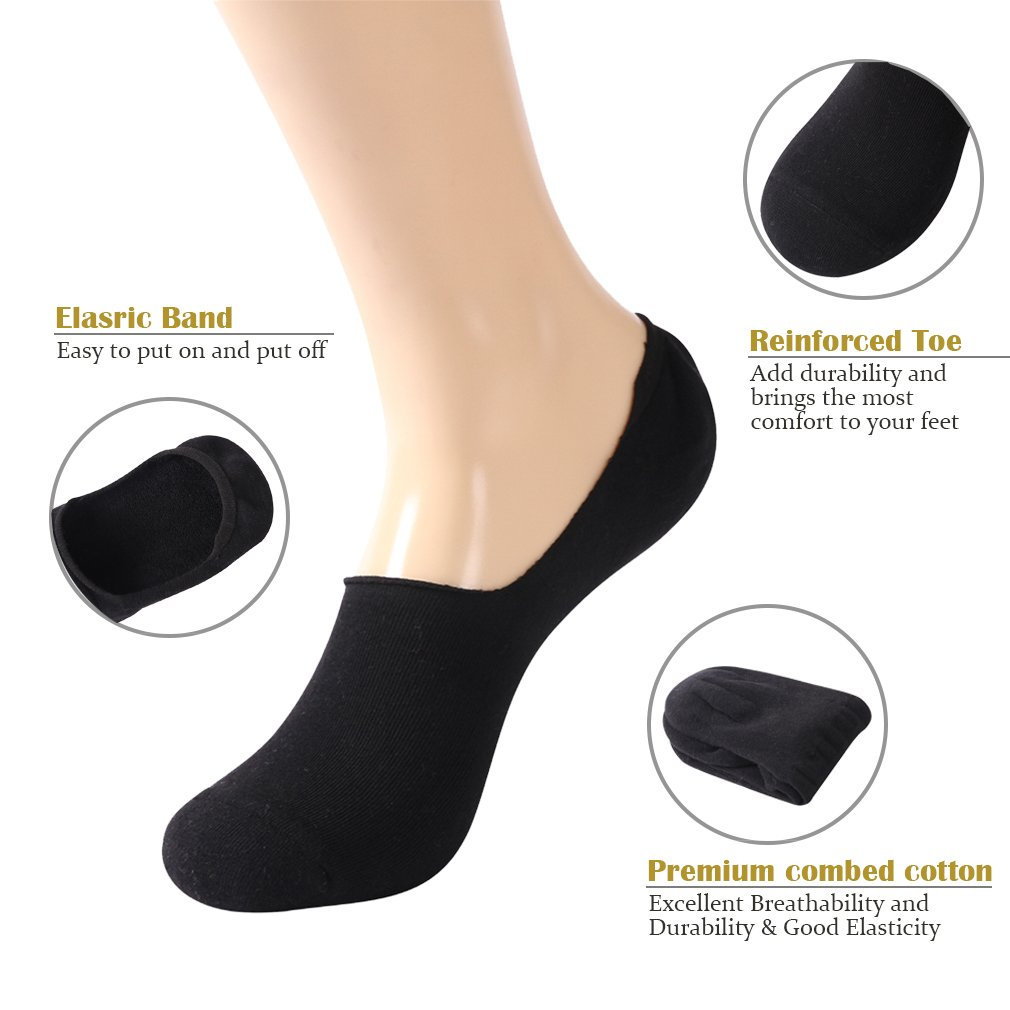 No Show Cushion Socks Gmall Mens Sports Cotton Thick Low Cut Athletic Non Slip Socks 3//6 Pairs