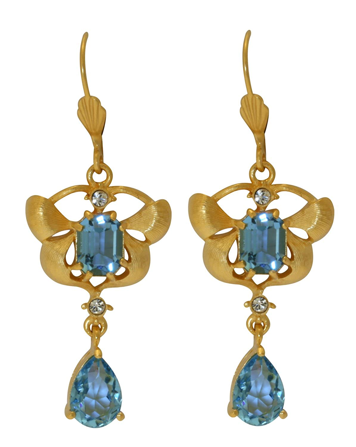 fa56b1564 Amazon.com: Orchid Delight Blue Earrings - Swarovski Crystal - Licensed by  V&A Victoria and Albert Museum, London: Jewelry
