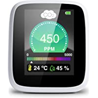 SELENSY Medidor de CO2 Portátil a Tiempo Real- 400-5000 PPM -Medidor de Calidad de Aire Interior- Medidor de Humedad y…