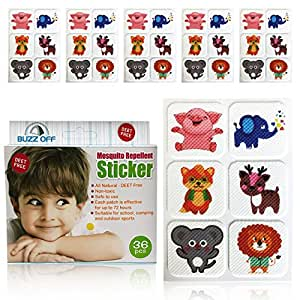 Buzz Off- Mosquito Repellent Stickers, Insect & Bug Repellent, Mozzie Sticker, Mossie Stickers, Water-proof, Deet-Free & Non-Toxic, Indoor and Outdoor Protection for Kids & Adults All Ages