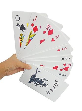 YYHIGH Giant Jumbo Playing Cards, Juego de Cartas de Gran ...
