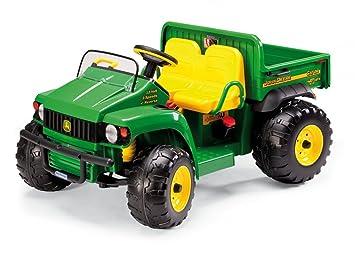 Peg Perego John Deere Gator - Tractor eléctrico de 2 plazas con Volante de 12 voltios: Amazon.es: Juguetes y juegos