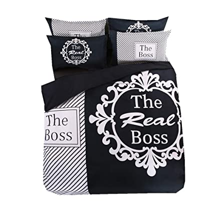 ed3195524c His Side Her Side Duvet Cover Set White Black Red, Wife Husband Couple King  Humorous