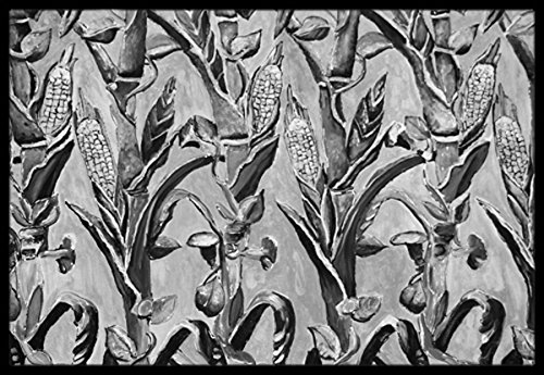 Multicolor Carolines Treasures 8929JMAT Corn Ironwork Fence Indoor or Outdoor Mat 24 x 36