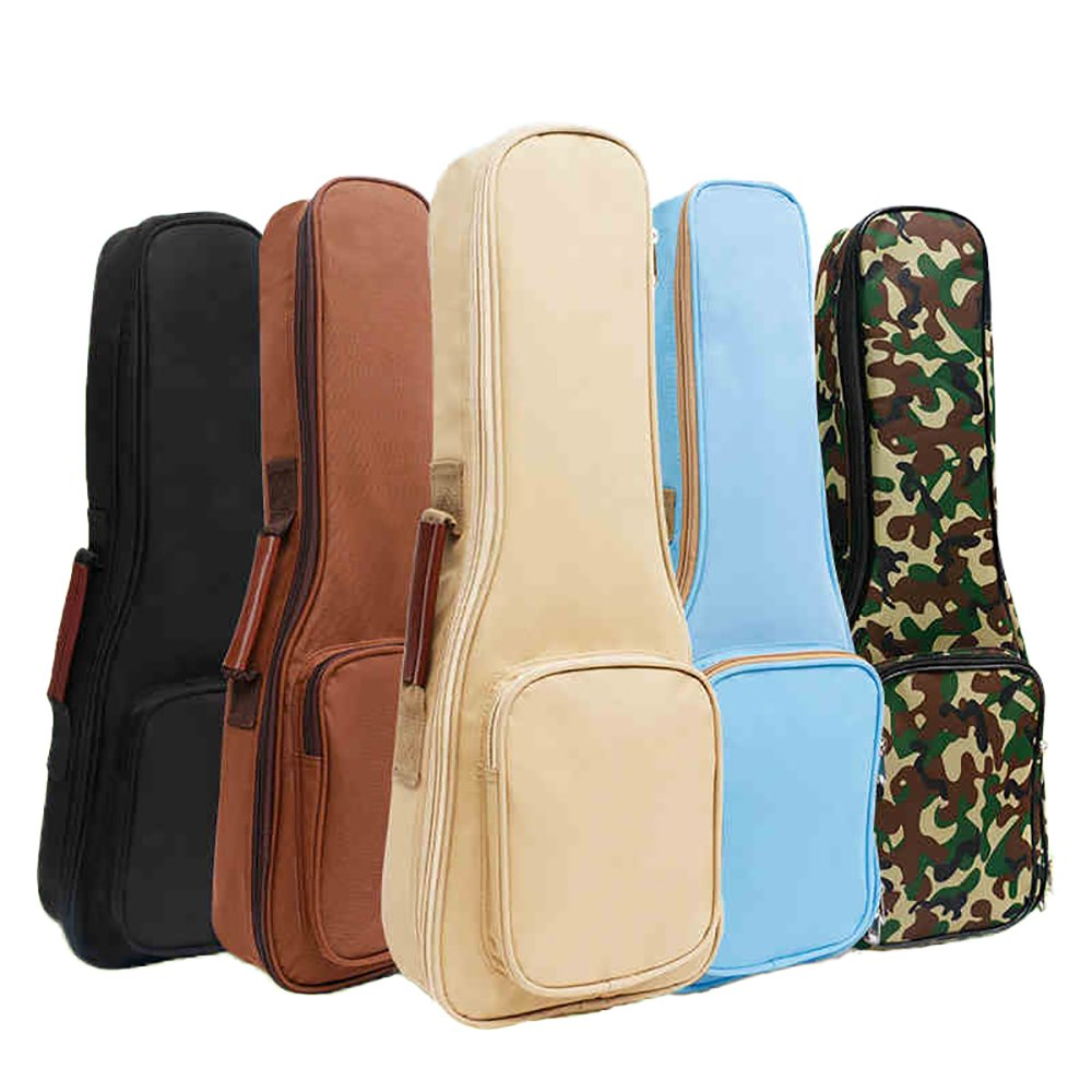 Zealux Hochwertige Ukulele-Hülle/Tasche mit Schaumstofffüllung und Schulterriemen, 10 mm, in verschiedenen Farben 23/24 in hellblau ZL-changsha-ukebag-blue23
