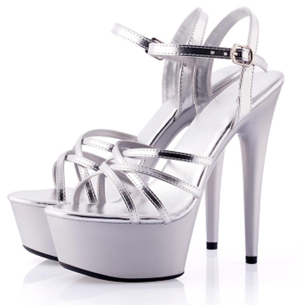 Women's sandals Shoes Waterproof platform Thick bottom Model heels High heels Professional high heels Model Banquet sandals B07CNTR2XQ Pumps & Heels 21c794